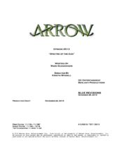 Arrow script title page - Spectre of the Gun
