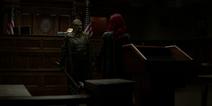 O Executor enfrentando Batwoman