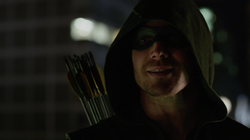Oliver tells Barry to take his advice wear a mask