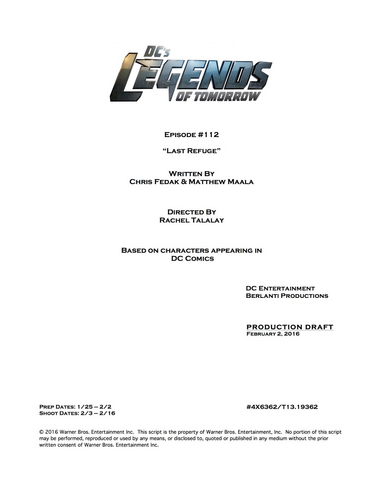 File:DC's Legends of Tomorrow script title page - Last Refuge.png