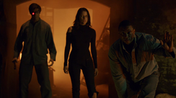 Deadshot, Lyla Michaels and Diggle in Moscow