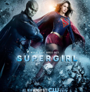 Supergirl season 2 poster - Worlds clash. Heroes unite.