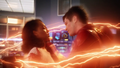 Barry brings Iris into Flashtime.png