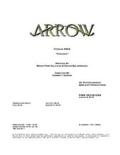 Arrow script title page - Penance