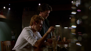 Constantine and Chas in bar
