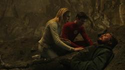 Sara e Barry com Oliver