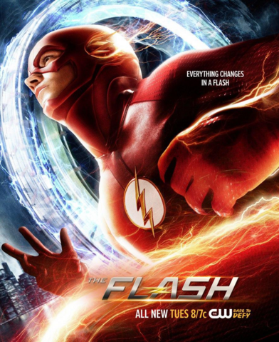 File:The Flash season 2 poster - Everything Changes in a Flash.png