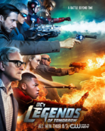 DC's Legends of Tomorrow season 1 poster - A Battle Beyond Time