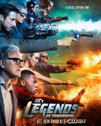 DC's Legends of Tomorrow season 1 poster - A Battle Beyond Time