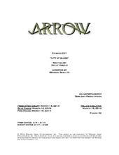 Arrow script title page - City of Blood
