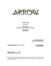 Arrow script title page - Identity