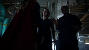 Hank Henshaw telling Supergirl not to touch anything