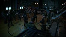 Slade facing Jackal mercenaries