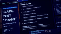 Info sheet on Zoey Clark
