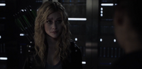 Mia Smoak wearing her father's quiver