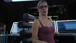 Felicity Smoak telling Oliver and Diggle about The Canary