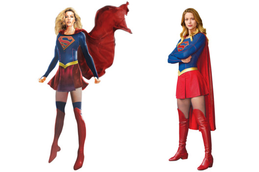 FileSupergirl costume concept sketch side by side with official costume.png  sc 1 st  Arrowverse Wiki - Fandom & Image - Supergirl costume concept sketch side by side with official ...
