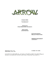 Arrow script title page - The Recruits