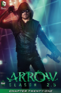 Arrow Season 2.5 chapter 21 digital cover