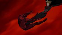 Overgirl fights Red Tornado
