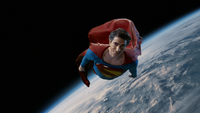 Superman (Earth-96) flies above Earth in the new multiverse