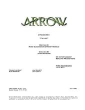 Arrow script title page - Fallout