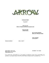 Arrow script title page - Lian Yu