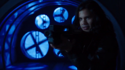 Cisco holding a weapon