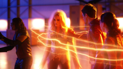 Killer Frost enters Flashtime