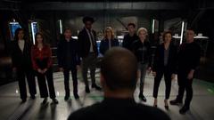 John gives Team Arrow a pep talk