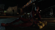 Kid Flash hurt by The Rival