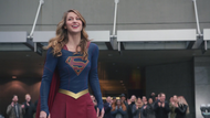 Supergirl saving the day before realizing Lillian Luthor and John Corben got away