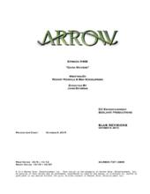 Arrow script title page - Dark Waters
