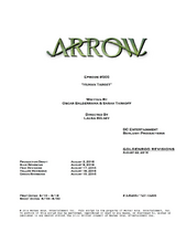 Arrow script title page - Human Target