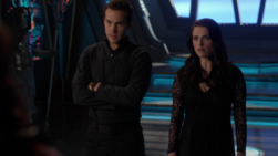 Mon-El and Lena confront Rhea