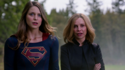 Supergirl and Cat Grant discover the president is an alien