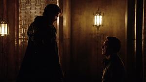 Malcolm Merlyn begs Ra's al Ghul for mercy