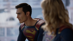 Clark talks with Kara about his feelings for having thought he could retire