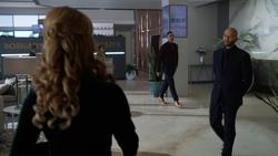 Lex approaches Gemma Cooper at Obsidian