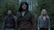 Slade, Oliver and Sara prepare for battle