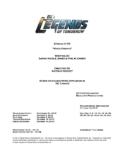 DC's Legends of Tomorrow script title page - White Knights