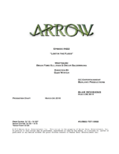 Arrow script title page - Lost in the Flood