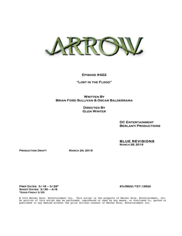 File:Arrow script title page - Lost in the Flood.png