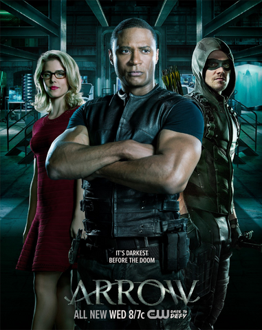 File:Arrow season 4 poster - It's Darkest Before the Doom.png