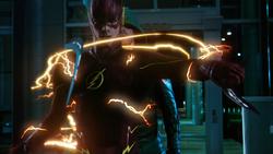 Barry salva a Oliver de dos bumeráns