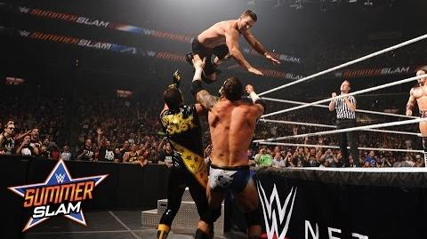 WWE Network Neville & Stephen Amell vs. Stardust & King Barrett SummerSlam 2015