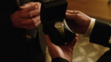 Quentin gives Oliver his father's wristwatch
