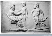 Médico Grego e o paciente