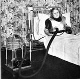 Antigo ventilador adequado para pacientes com poliomielite