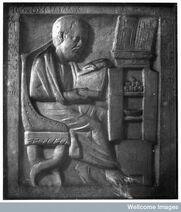 Médico Greco-Romano no seu estudo.